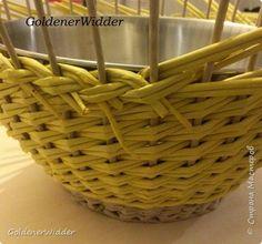 Мастер-класс Поделка изделие Плетение Послойное плетение двойными трубочками загибка-розга двойная ручка +MK Бумага газетная Трубочки бумажные фото 7