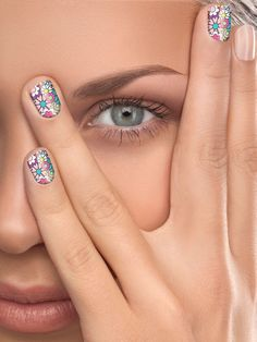 Try one of these cheapie ways to snazz up your nails. Come on: It's summer vacation! 1. Sally Hansen Salon Effects Real Nail Polish Strips, $9.99. These strips--which are made of actual polish--go on like stickers and last for at least a week. Our favorite: Girl Flower. 2. Pure Ice Magnetic Attraction Nail Polish, $4.99. Paint on the polish, hold the magnetic bottle cap over each wet nail for 30 seconds, then watch in amazement as groovy ripple patterns emerge. 3. Topshop Make Up Nail Art…