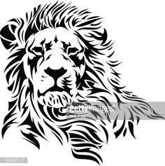 lion head art - Google Search