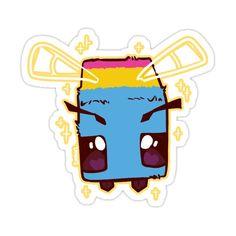 Pansexual Pride Minecraft Bee Sticker by smnius