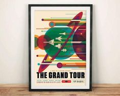 NASA Retro Space Travel Poster The Grand Tour Art Print by fineearthprints Space Tourism, Space Travel, Sistema Solar, Grand Tour, Arcade, Earth Poster, Tour Posters, Nasa Posters, Planets
