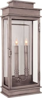 TALL LINEAR LANTERN (exterior version available), antique nickel or weathered zinc, indoor or outdoor
