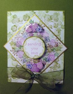 Summer Berries by Susan Walton with Tapestry Rubber Stamps