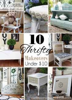 Ten Thrifty makeovers all under $10!