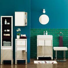 Blue Themed Bathroom Color Idea - Home Decorating Ideas – Interior Design Ideas on hometodecor.com
