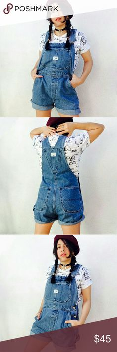 Vtg 90's Lee denim grunge shortalls overalls Vintage 90's Lee denim overalls. No size tag, fits like Medium. Blue combo. Oversized fit for smaller sizes   Fabric is sturdy and thick, which adds more dimension and texture to this piece. It is a really well made, quality item.  I love its easy relaxed look. You can cuff the hems, or keep them longer. I rolled them twice for pics. :)  ? Free US Shipping  ? Cool discounts on bundles    Lee denim jean shortalls overalls onesie jumpsuit romper…