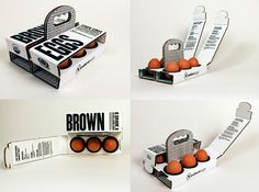 6 Brown Eggs. Conceptual package designed by Sarah Machicado, a graduate from Maryland Institute College of Art.