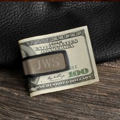 """Personalized Sporty Fit Money Clip - Groomsmen Gift - Best Man Gift by TheOldCornerStore, $15.98 With sleek brushed stainless and rugged rubber edging, this personalized Sporty Fit money clip is ideal for every guy on your list! Sturdy and flexible enough to carry bills and credit cards, the personalized Sporty Fit Money Clip slips easily into his pocket for safe keeping. Add initials for a personal touch. Measures 2 1/8"""" x 7/8"""" x 5/8""""."""
