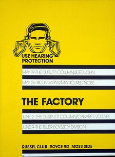 The Factory Poster. Peter Saville, 1978 by Eye magazine, via Flickr