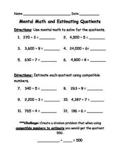 estimate quotients reteach 22 3 worksheet hot resources pinterest worksheets math. Black Bedroom Furniture Sets. Home Design Ideas
