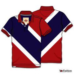 Men's Diagonal Panel Poloneck T-shirt Vector Template Polo Shirt Style, Polo Shirt Design, Polo Design, Mens Polo T Shirts, Polo Tees, Mens Tees, Camisa Polo, Camisa Floral, Fashion Design Template