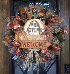Warm Autumn Welcome Wreath