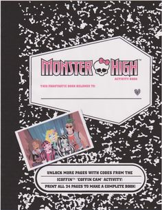 FREE Monster HIgh Printables