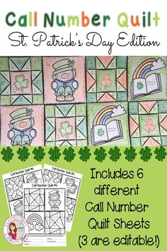 Are you looking for a fun way for your students to practice identifying library call numbers? Try these Call Number Quilts!