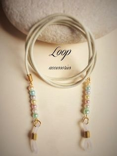 PASTEL PEARLS Women's Eggshell Leather by LoopAccessoriesShop