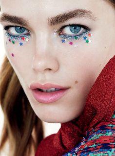 Mathilde Brandi by Henrik Bulow for Elle Sweden December 2016. Stars in your eyes...