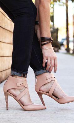 leather heels by Joe