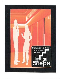 The elevator is broken you'll have to take the steps 12 Step Greeting Card by 12StepUnityGal on Etsy