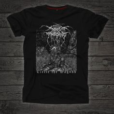 Darkthrone t-shirt Circle the Wagons Black metal Norwegian Textile Prints, Black Metal, Size Chart, Long Sleeve Shirts, Mens Tops, T Shirt, Clothes, Etsy, Awesome