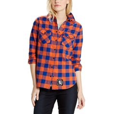 Denver Broncos Levi's Women's 49ers Barstow Western Long Sleeve Button-Up Shirt - Orange