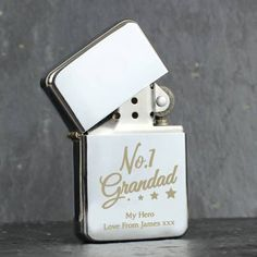 Our Personalised Daddy' Silver Lighter is an ideal gift for a one of a kind Dad! The lighter can be personalised with 2 lines of text, with up to 20 characters per line.The text Daddy' is fixed and cannot be amended.Please note that al. Personalised Gifts For Him, Personalized Banners, Personalized Birthday Gifts, Personalized Wedding, Fathers Day Gifts, Gifts For Dad, Stocking Fillers For Him, Happy Birthday Dad, Jesus Birthday