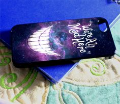 Alice in Wonderland We are Mad Here Galaxy Nebula for iPhone 4/4s/5/5s/5c, Samsung Galaxy s3/s4 case