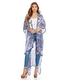 Tolani Pom PomTrimmed Kimono Jacket #Dillards