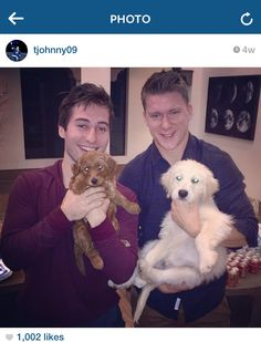 Tyler Johnson, Ondrej Palat, and their golden doodles. Does it get much cuter than this?
