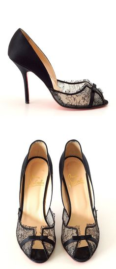 I adore these Christian Louboutin Lace Pumps!! Hmmm, how many more yard sales so I can have these? I don't need a bed... ;)