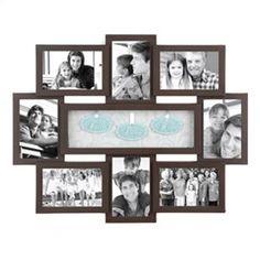 Faith Hope Love Shadowbox Brown Collage Frame