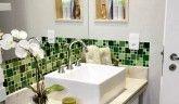 Banheiros criativos e compactos