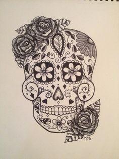 Sugar Skull Print on Etsy, $40.00