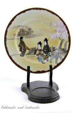Vintage Japanese Decorative Plate by OddmentsandEndments on Etsy, $10.00