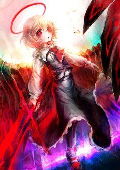 Rumia (Touhou) by Evil Anime, Gifted Kids, Manga Love, Anime Artwork, Neko, Cute Art, Cool Girl, Concept Art, Horror