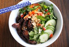 Vietnamese Pork Noodle Recipe Bún Thịt Nướng