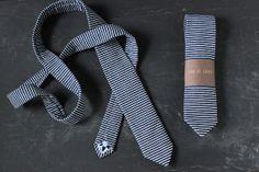 Handmade Railroad Denim Narrow Necktie. by sonofsoren on Etsy, $68.00
