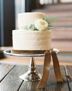 23 Small Wedding Cakes With a Big Presence| Martha Stewart Weddings Good Cake for everyday  #cakerecipe  #sweet