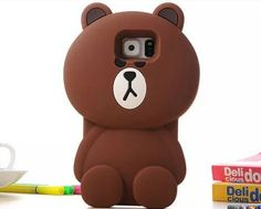 Cute Cartoon Animal Bear Case for Samsung Galaxy Note 5 / Note 4 / Note 3