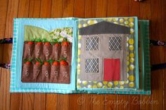 garden quiet page with counting carrots, cute, no pattern but easy to do