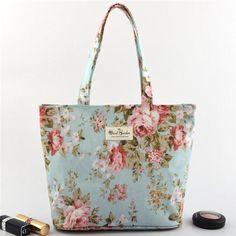 Casual Stylish Flower Pattern Tote Handbag Shoulder Bags For Women Shopping Bag