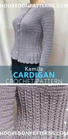 Kamila Fitted Cardigan Crochet Pattern (Paid Pattern). A beautiful, detailed form fitted crochet cardigan.