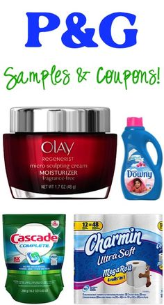 P&G FREE Samples and Coupons!
