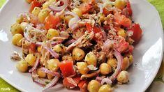 Tonhalas csicseriborsó-saláta   Nosalty Eat Pray Love, Cooking Recipes, Healthy Recipes, Healthy Meals, Fish Recipes, Recipies, Pasta Salad, Potato Salad, Delicious Desserts