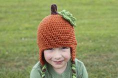 Free Crochet Pumpkin Hat Pattern from Micah Makes