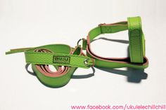 Ukulele Strap Green Color : Handmade Design for Ukulele Soprano,Concert,Tenor Size By Ukulele ChillChill (I can ship worldwide) http://www.facebook.com/ukulelechillchill