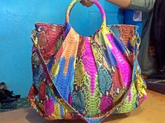 Multy colour phyton bag us $200