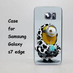 cute minions comics Design hard transparent clear Skin Cover Case for samsung galaxy s3 s4 s5 mini s6 s7 edge