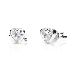 Follow ANNIE HAAK on Pinterest & REPIN to WIN these charming Crystal Heart Silver Stud Earrings
