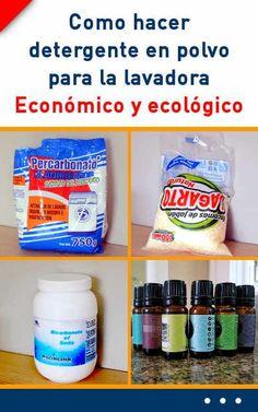 Como hacer detergente en polvo para la lavadora. Económico, efectivo y ecológico