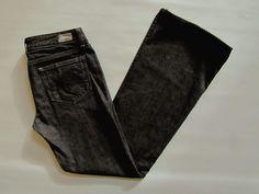 """Paige Jeans 29 Premium Denim Boot Cut Laurel Canyon Onyx Slim Black gray 32"""" #PaigeDenim #BootCut"""